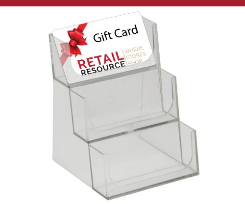 Gift Card Bin, 3 Tiered