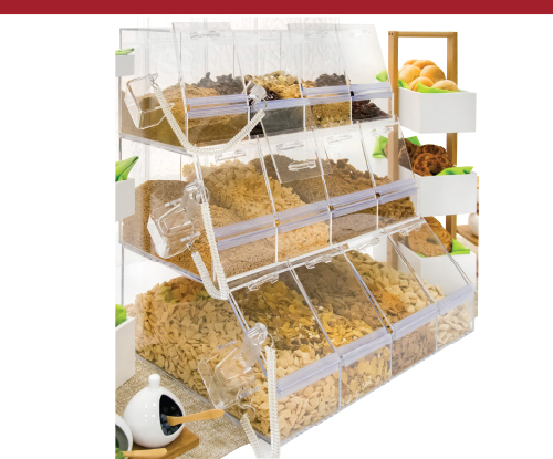 3-Tier Acrylic Bulk Bins With Scoops