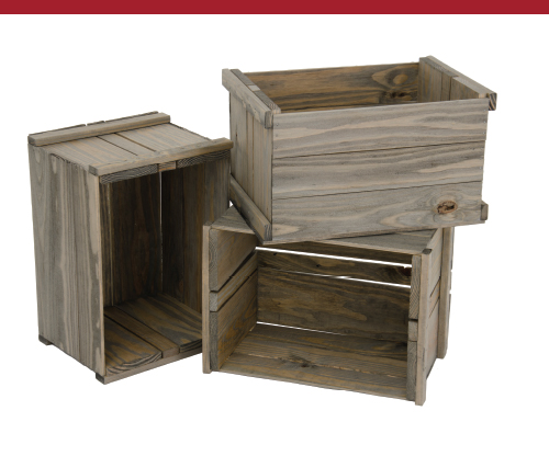 Weatherwood Crate Set