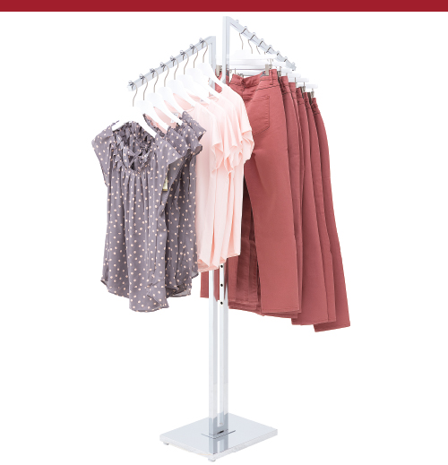 2 Way Garment Rack with Slant Arms