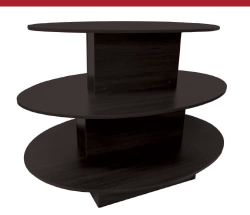 Oval 3-Tier Display Island Table