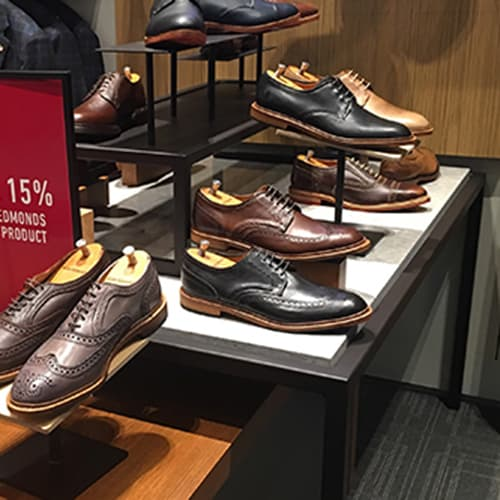 Mens Shoe Display