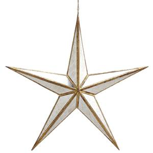 Mirrored Gold Hanging Star
