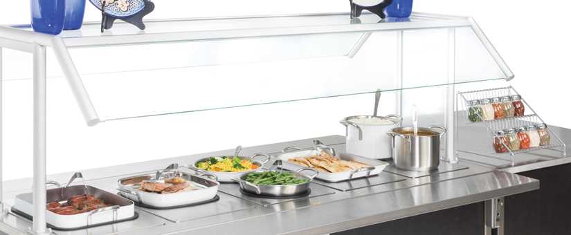 White and Stainless Hot Food Display