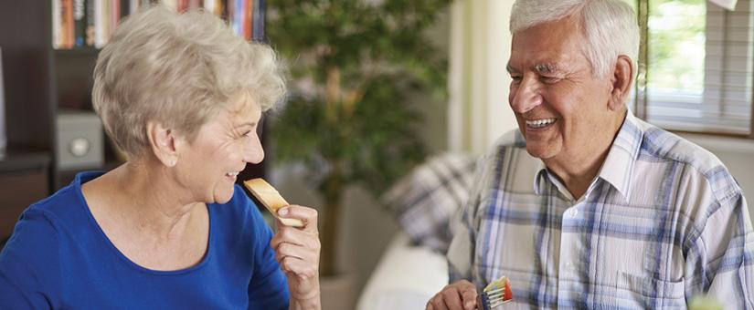 Seniors in social setting