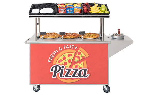 pizza mobile hallway cart